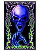 Tattoo Death-Skull Pointing Black Light Poster