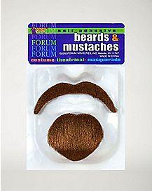 Self Adhesive Beard and Brown Mustache