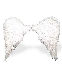3 ft White Feather Wings