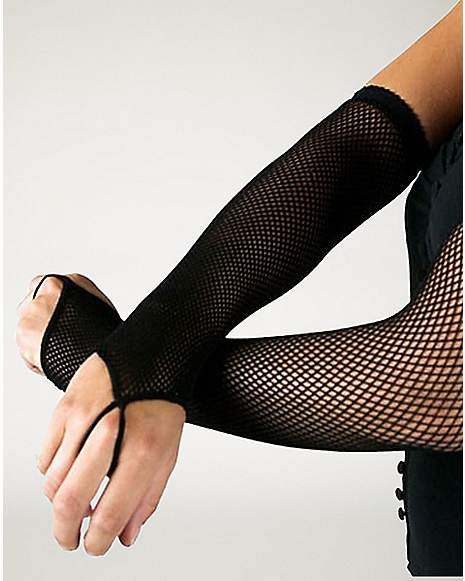Black fishnet arm warmers spencer 39 s for Fish nets near me
