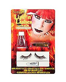Red Glitter Lips and Lashes Makeup Kit