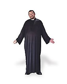 Adult Keep the Faith Priest Plus Size Costume