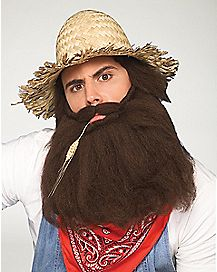 Long Brown Beard and Mustache