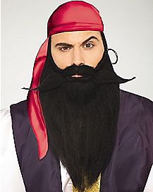 Long Black Beard and Mustache