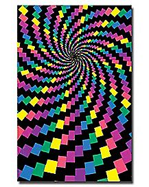 Electric Rainbow Blacklight Poster