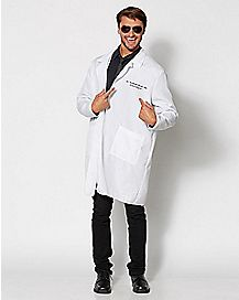 Adult Dr. Seymour Bush Gynecologist Lab Coat Plus Size Costume