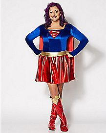 Adult Supergirl Plus Size Costume - Supergirl