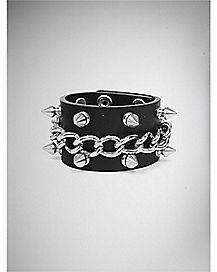 Stud and Chain Wrist Cuff