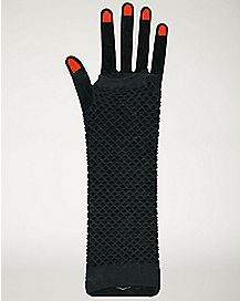 Black Mesh Glovelettes