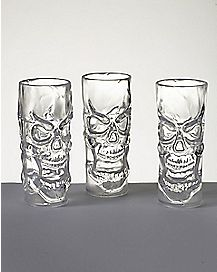 Clear Skull Shot Glasses Set