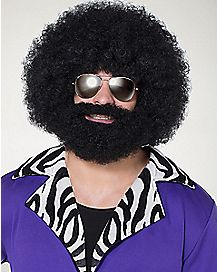 Facial Hair and Afro Wig
