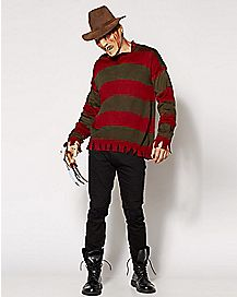 Adult Freddy Krueger Costume Deluxe - Nightmare on Elm Street