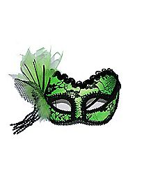 Lime Green Lace Mask