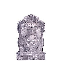 1.5 Ft Skull Handshake Tombstone - Decorations