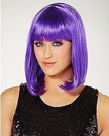 Purple Pageboy Wig