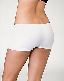 Seamless Boyshort Panties - White