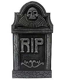 16 in RIP Skull Tombstone Decorations