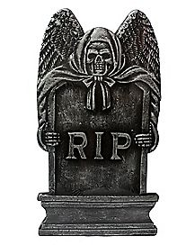 16 in Bronze RIP Tombstone - Decorations