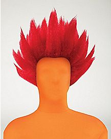 Red Spiked Wig