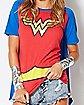 Caped Wonder Woman T Shirt - DC Comics