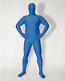 Adult Super Skins® Blue Skin Suit Plus Size Costume