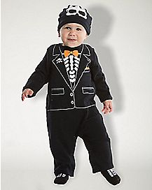 Baby Skeleton Tux Costume
