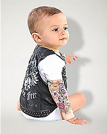 Baby One Piece Biker Costume