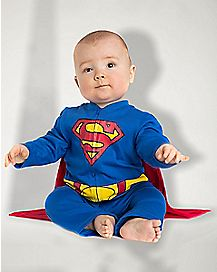 Baby One Piece Caped Superman Costume - DC Comics