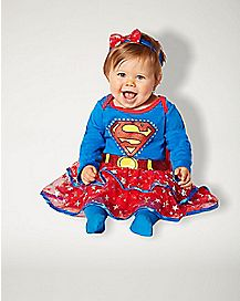 Baby Caped Supergirl Dress- Superman