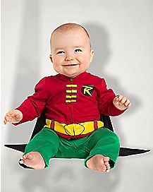 Baby Caped Robin One Piece Costume - Batman