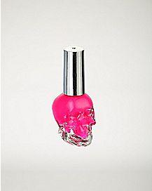 Pink Skull Nail Polish