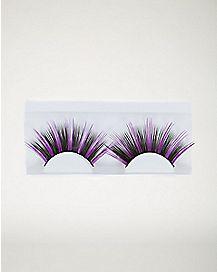 Purple Black False Eyelashes