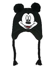 Black Mickey Mouse Laplander Hat - Disney
