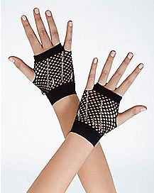 Black Mesh Chain Gloves