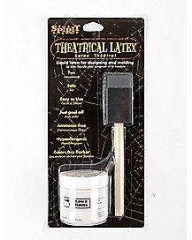 White Liquid Latex and Brush Kit - 2 oz