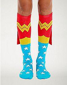 Caped Wonder Woman Socks - DC Comics