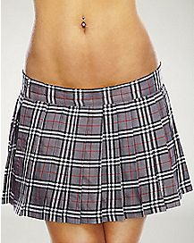 School Girl Skirt - Grey