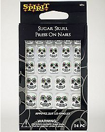Sugar Skull Press On Nails