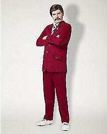 Adult Ron Burgundy Costume - Anchorman