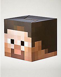Cardboard Steve Head Mask - Minecraft