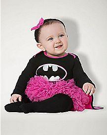 Baby Pink and Black Caped Batgirl Costume - Batman
