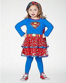 Toddler Sparkling Supergirl Costume - Superman