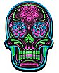 Black Sugar Skull Magnet