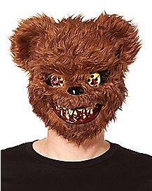 Brown Scary Teddy Bear Mask