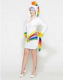Adult Hooded Unicorn Dress Costume