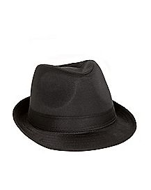 Black 20s Fedora Hat