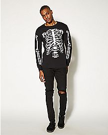 Adult Skeleton Long Sleeved T-Shirt