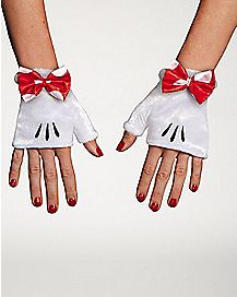 Red Minnie Gloves - Disney