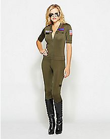Adult Sexy Jumpsuit Costume - Top Gun