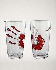 Bloody Hand Pint Glass